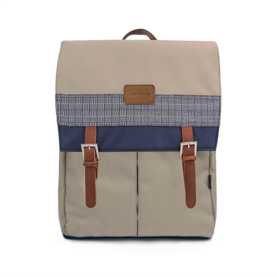 Cuadro Backpack - Checkered Navy Blue Inabel