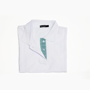 Women's Polo Shirt - Teal Square Inabel