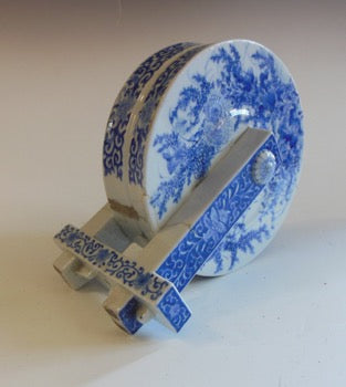 Japanese Blue-and-White Porcelain Water Wheel