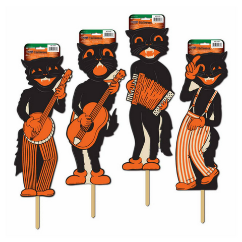 Beistle Scat Cat Band Yard Signs - Set of 4