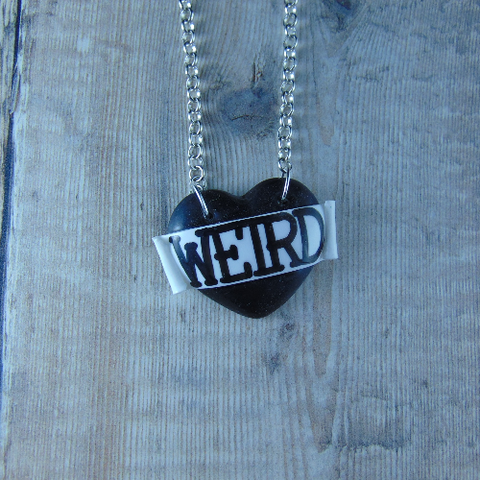 Weird Single Heart Necklace