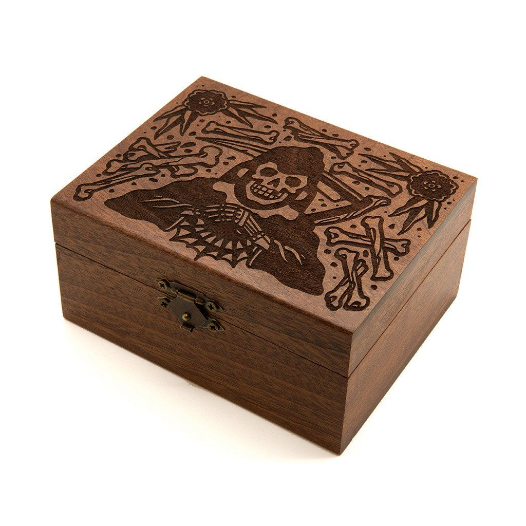 Grim Reaper - Wooden Trinket Box