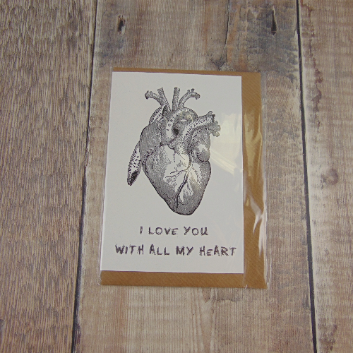 I Love You With All My Heart Greeting Card