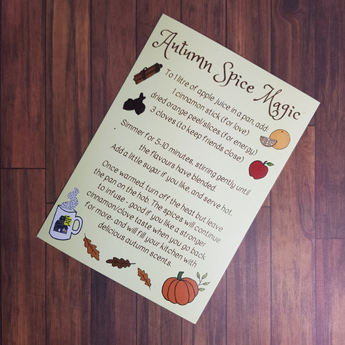 Autumn Spice Magic Recipe Card