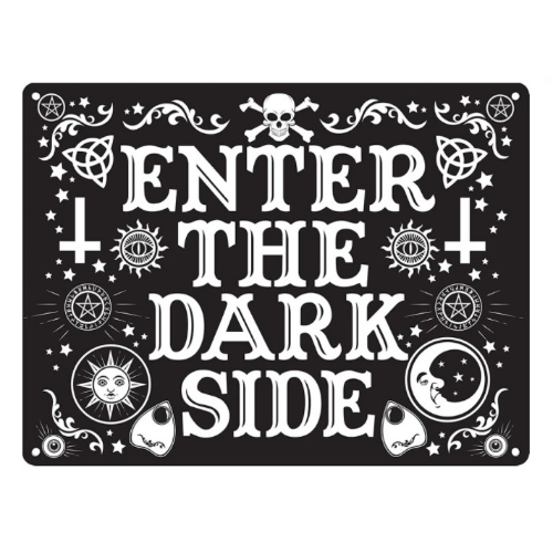 'Enter The Dark Side' Small Tin Sign