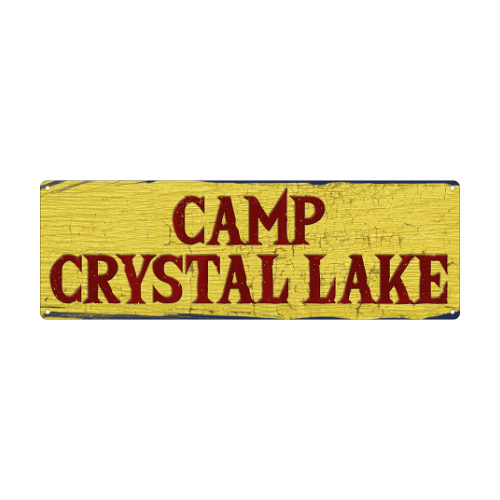 Camp Crystal Lake Slim Tin Sign
