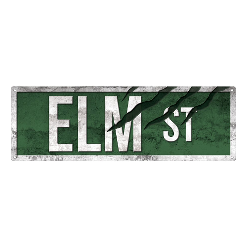 Elm Street Slim Tin Sign