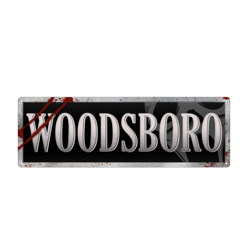 Woodsboro Scream Slim Tin Sign