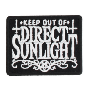 'Keep Out Of Direct Sunlight' Patch