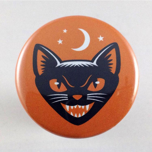 Black Cat -Choose from Badge or Magnet