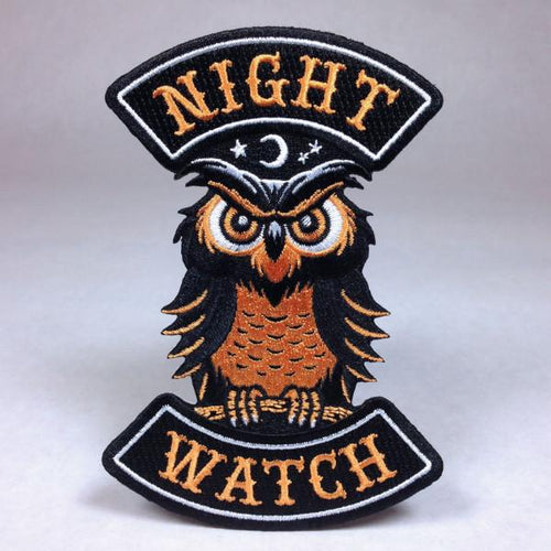 Night Watch Owl Biker Patch
