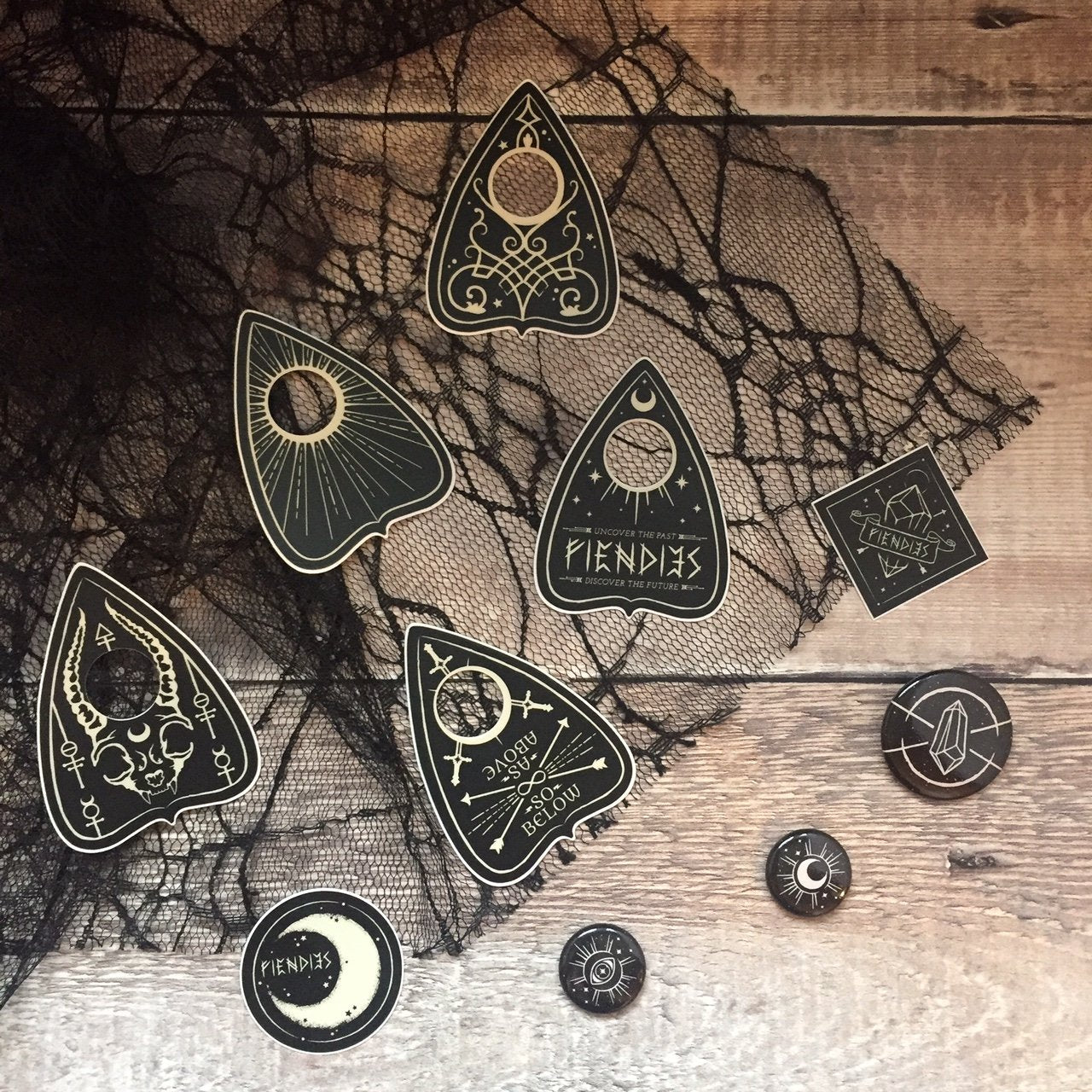 Fiendies Planchette Sticker/Button/Mini Print Pack