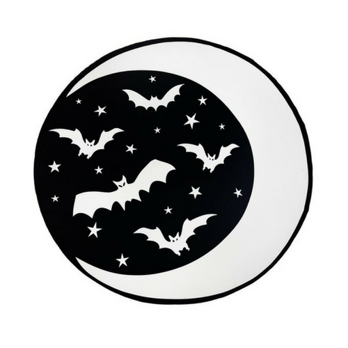 Moon and Bats Beach Towel