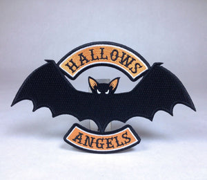 Hallows Angels Bat Biker Patch