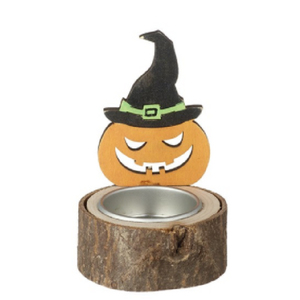 Pumpkin Witch T Light Holder