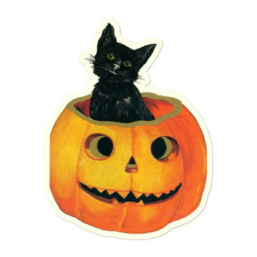 Cat and Pumpkin Gift Tags - Pack of 3