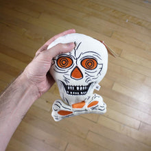 Load image into Gallery viewer, Creepy Company Beistle Skull Plush
