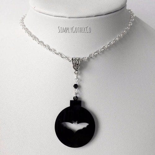 Bat Bauble Necklace by SimplyGothicCo