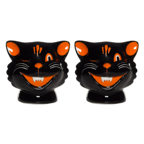 Black Cat Salt & Pepper Shakers