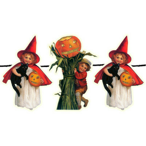 Witch and Scarecrow Pumpkin Garland