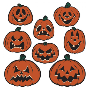 Beistle Pumpkin Cutouts