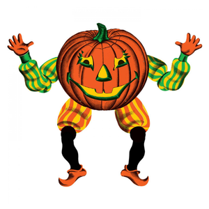 Beistle Mega Jointed Pumpkin Goblin
