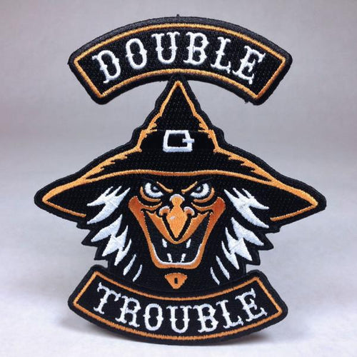 Double Trouble Witch Biker Patch