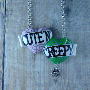 Cute 'n Creepy Large Double Heart Necklace