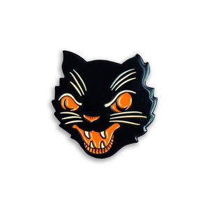 Creepy Company Beistle Mean Cat Enamel Pin