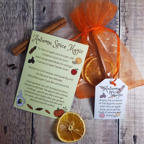 Autumn Spice Magic Recipe Card + Ingredient Bag