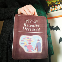 Load image into Gallery viewer, Beetlejuice 'Handbook For The Recently Deceased' Tin Lunchbox