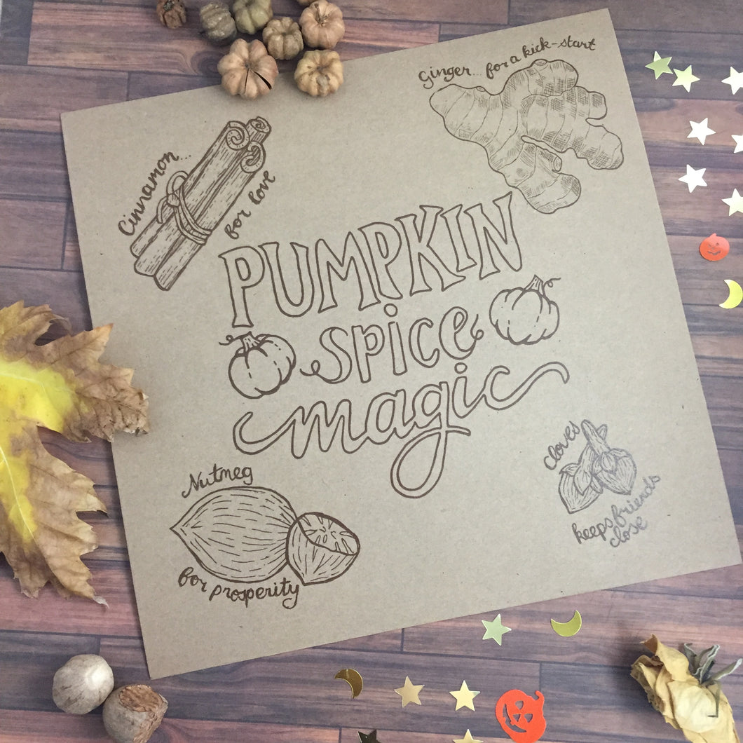 Pumpkin Spice Magic Print