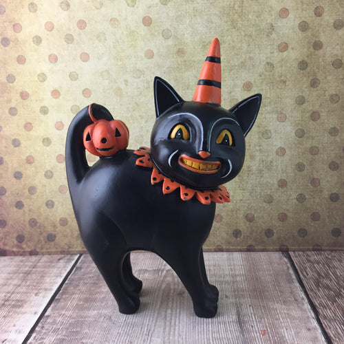 Standing Black Cat Figurine - Back Soon!