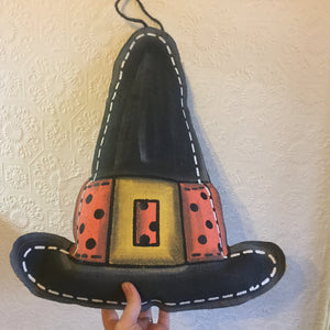 Witch's Hat Burlap Hanger