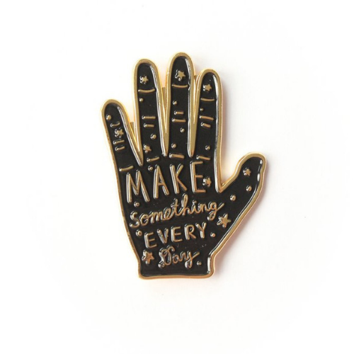 Make Something Every Day Enamel Pin