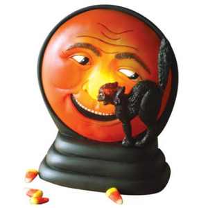 Scratch Cat and Moon Battery-Operated Lamp