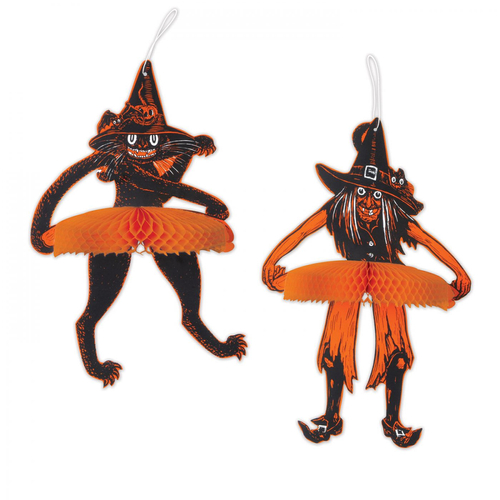 Tango Witch and Cat Hanging Decorations