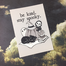 Load image into Gallery viewer, Be Kind Stay Spooky Postcard