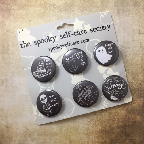 Spooky Self-Care Badge Set