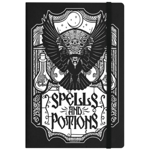 'Spells and Potions' A5 Hard Cover Lined Notebook