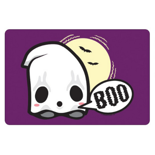 'Boo' Ghost Purple Mini Tin Sign