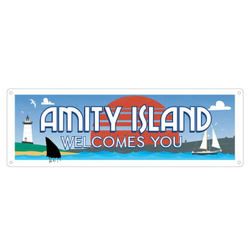 'Amity Island Welcomes You' Slim Tin Sign