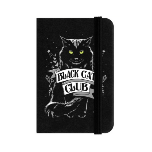 Black Cat Club Mini Hard Cover Lined Notebook