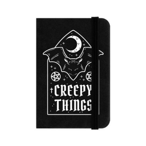 Creepy Things Mini Hard Cover Lined Notebook