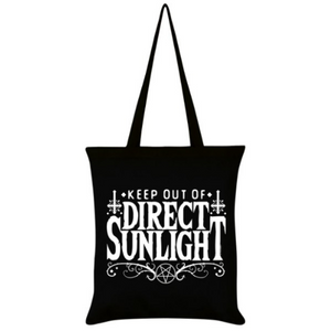 'Keep Out Of Direct Sunlight' Tote Bag