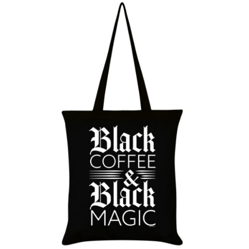 'Black Coffee and Black Magic' Tote Bag