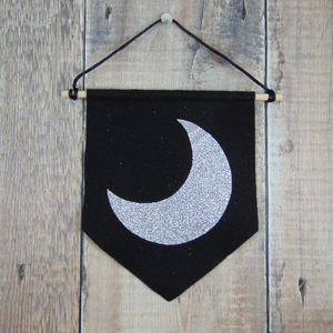 Crescent Moon Wall Hanging by Louna Love