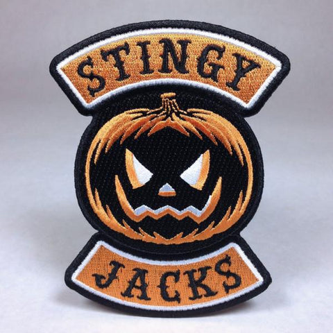 Stingy Jacks Pumpkin Biker Patch