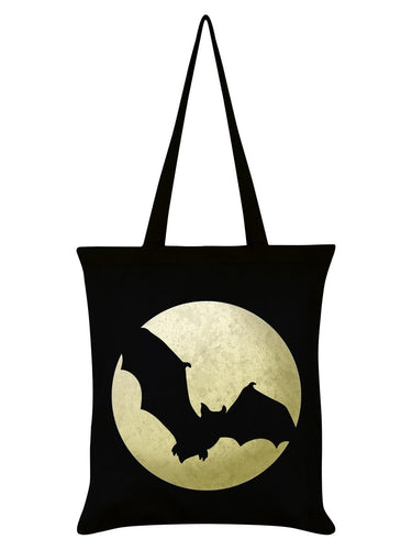 Bat Moon Silhouette Tote Bag