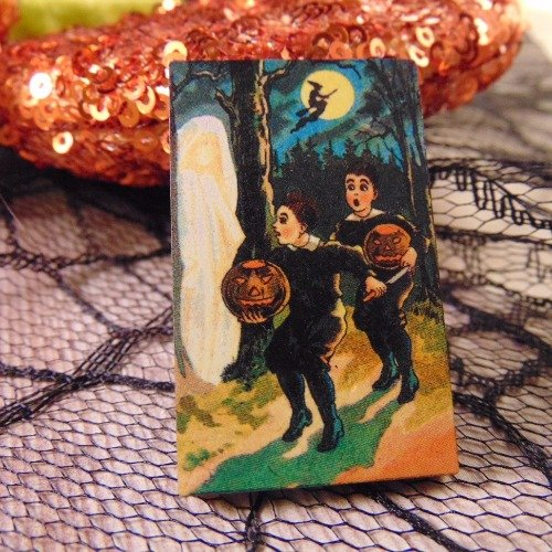 Trick or Treat Wooden Brooch